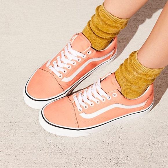 vans peach pink